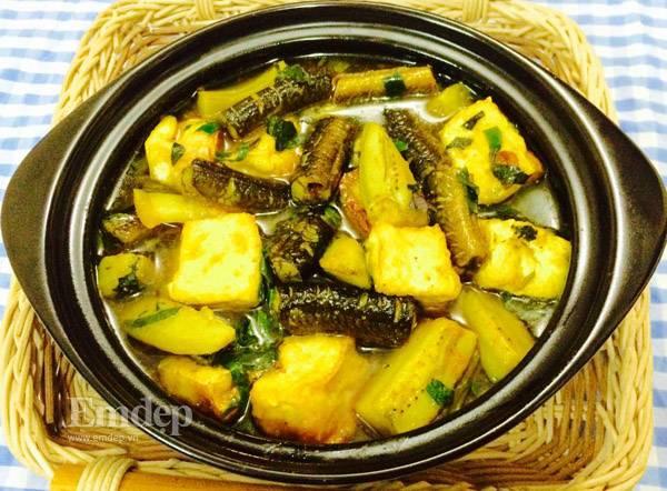 cac-mon-trung-cho-be-20151022-nau-luon-om-chuoi-dau-nong-hoi-ngon-mieng-10